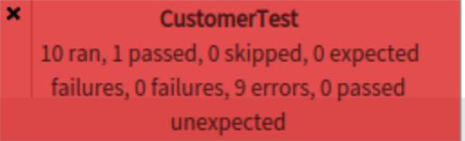 Broken tests